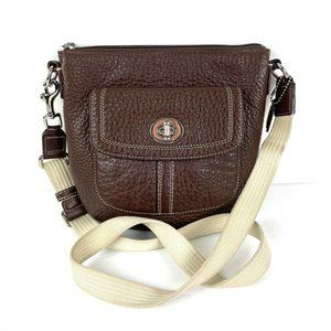 Coach Swing Pack Brown Leather Crossbody Bag